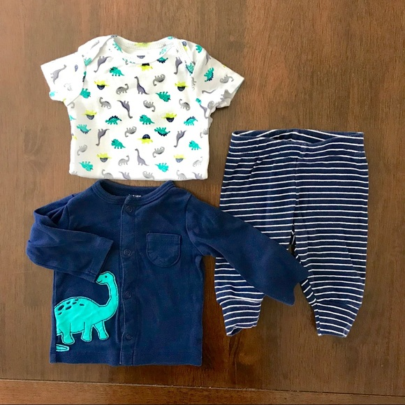fab9a5b77 Carter's Matching Sets   Carters Baby Boy 3 Month Dino 3 Piece ...